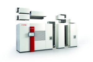 Der Einlagerungsautomat Cube+ von Apostore zeichnet sich durch seine Modularität, kompakte und robuste Bauweise sowie die hohe Leistungsfähigkeit aus. Bild: Apostore